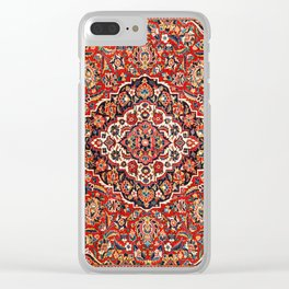 Kashan  Antique Central Persian Rug Print Clear iPhone Case