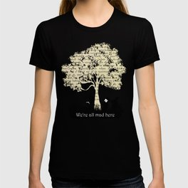 We're All Mad Here II - Alice In Wonderland Silhouette Art T-shirt