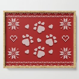 Dog Paws Christmas - Sweater Weather Isle Serving Tray