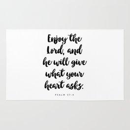 Psalm 37:4 - Bible Verse Rug