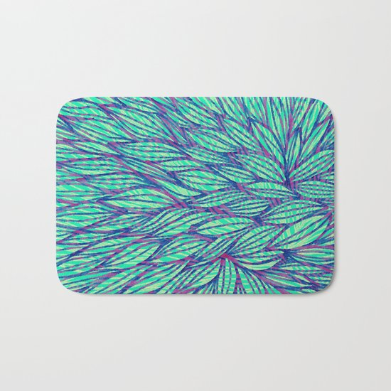 Natural leaves Bath Mat