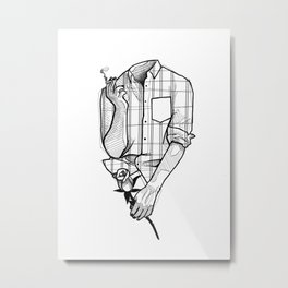Lost my mind over her. Metal Print