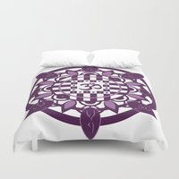 yoga Duvet Covers featuring Yoga by Janava