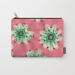 Emerald Lace Rose Carry-All Pouch