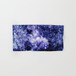 Galaxy Sparkle Stars Purple Blue Teal Hand & Bath Towel