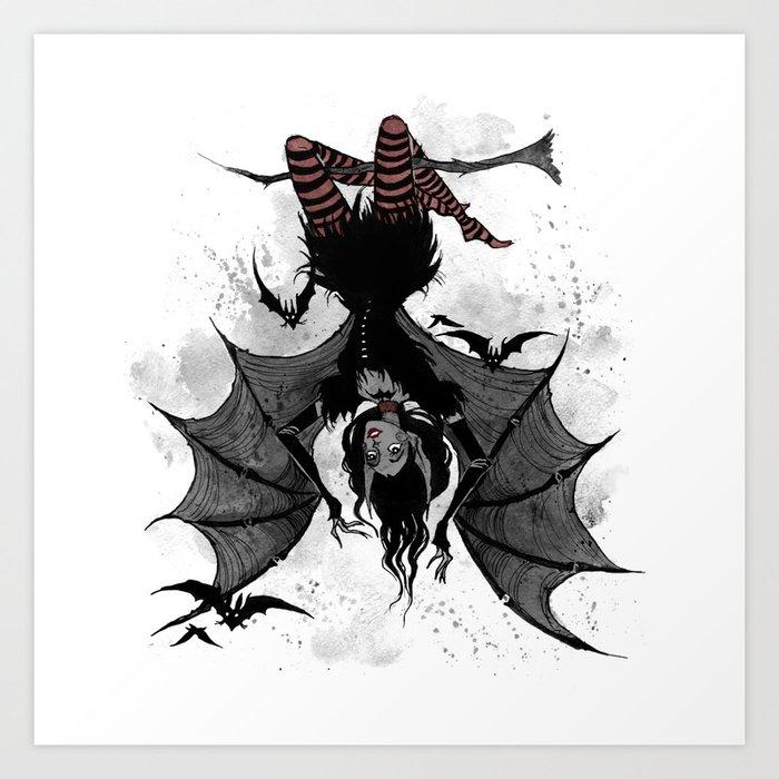 inktober bats art print by irenhorrors society6