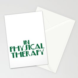 """There's No Crying in Physical Therapy"" tee design. Fight your fear and stay inspired with this tee! Stationery Cards"