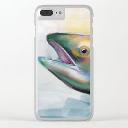 S is for salmon Clear iPhone Case