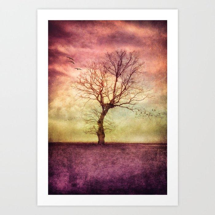 ATMOSPHERIC TREE - October Mood Art Print