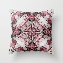Rococo Red - D111 Throw Pillow