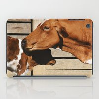 cows iPad Cases featuring Cows by Ana Francisconi