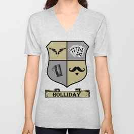 Doc Holliday Coat of Arms Unisex V-Neck