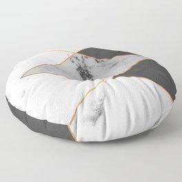 Geometric marble & copper Floor Pillow