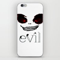 evil iPhone & iPod Skins featuring Evil by Timkirman