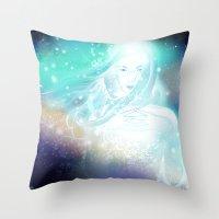 aurora Throw Pillows featuring Aurora by Stevyn Llewellyn