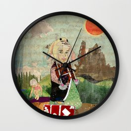 the peculiar adventures of alabee blonde Wall Clock