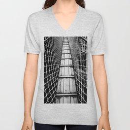 suspension bridge Unisex V-Neck