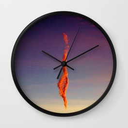 Flame Cloud Wall Clock