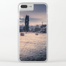 Field Of Hay Bales Clear iPhone Case