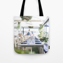 Lunch By The Water Tote Bag