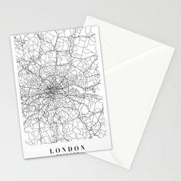 London England Street Map Minimal Stationery Cards