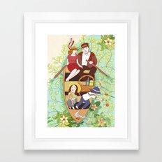Boat ride Framed Art Print