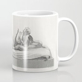 Back view of Venus reclining accompanied by Cupid with a harp from Oeuvre de Canova Recueil de Statu Coffee Mug