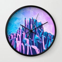 Crystal Peak Wall Clock