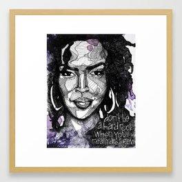 Lauryn Hill. Framed Art Print