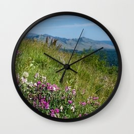 Flowering Meadow Wall Clock