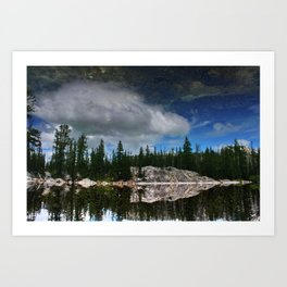 Reflection at Colchuck Lake Art Print
