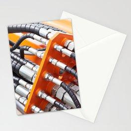 Hoses of hydraulic machine Stationery Cards