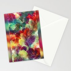 Multicolor Leaves Stationery Cards