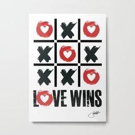 Playful Way To Say Love Wins X0 Metal Print