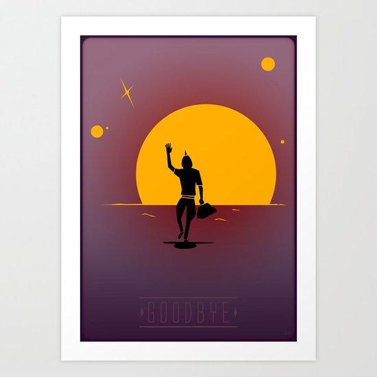 Goodbye Gir! Art Print