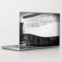 mercedes Laptop & iPad Skins featuring MERCEDES-BENZ MUSEUM by GL-ART-PHOTOGRAPHY