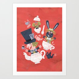 Mad Hatter's Tea Party - Alice in Wonderland Art Print