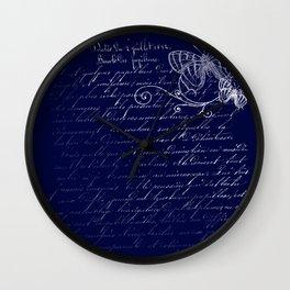 Blue Midnight Butterfly Wall Clock