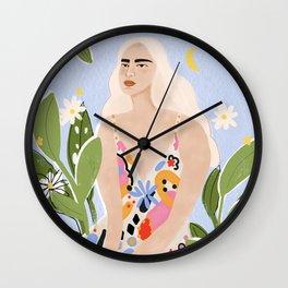 Abstract dress Wall Clock