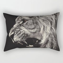 Angry Male Lion Rectangular Pillow