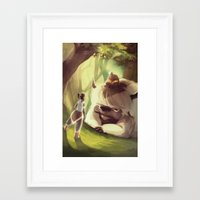 appa Framed Art Prints featuring Spirit World by Attyca