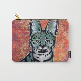 turquoise serval cat Carry-All Pouch