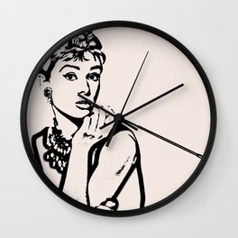 Lady With Cig Wall Clock
