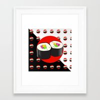 sushi Framed Art Prints featuring Sushi! by Oceanic Inks