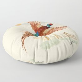 male pheasant Floor Pillow
