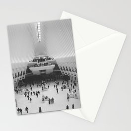 Oculus | New York City, Black and White Film Photography Stationery Cards
