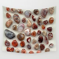 agate Wall Tapestries featuring agate,gemstone by ira gora