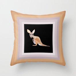 Paint Chip Kangaroo Throw Pillow