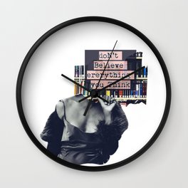 The voices of self-doubt Wall Clock