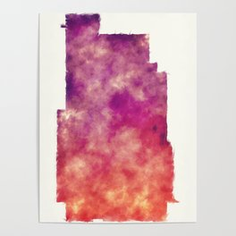 Minneapolis city watercolor map in front of a white background Poster